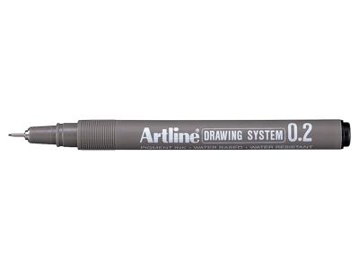 DRAWINGPEN ARTLINE 0,2 MM Sort
