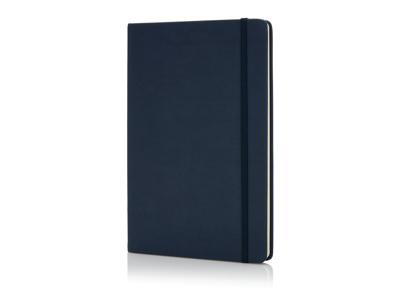 Luksus hardcover PU A5 notesbog, marine blå