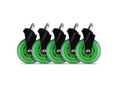 Hjul til gaming stol L33T Grøn 5 stk