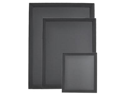 Tavle 70x90 cm sort lakeret ramme