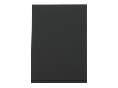 Bord tavle L-formet 11,5x7,5x4,5 cm sort