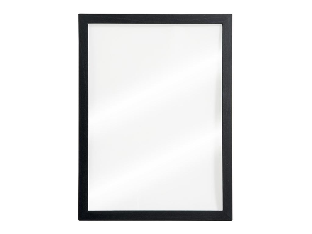 Tavle 60x40x1 cm gennemsigtig sort ramme