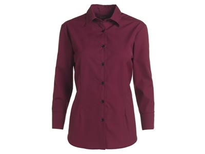 Kentaur Skjorte Dame Bordeaux m/lang ærm