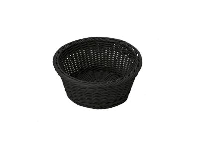 Brødkurv rund 25x11,5 cm, sort