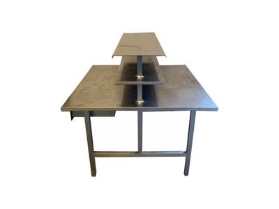 Brugt Stålbord dobbelt