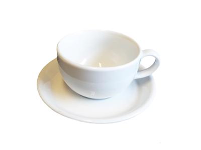 Overkop 25 cl hvid porcelæn