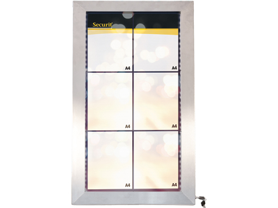 Informationsdisplay 6xA4 LED rustfrit st