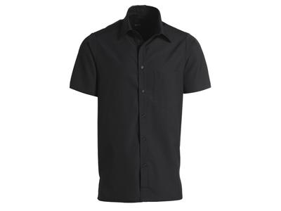 Skjorte Kortærmet Unisex Sort - Flere Størrelser