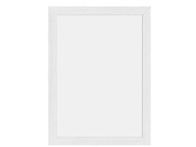 Tavle 40x30X1 cm hvid lakeret træ ramme
