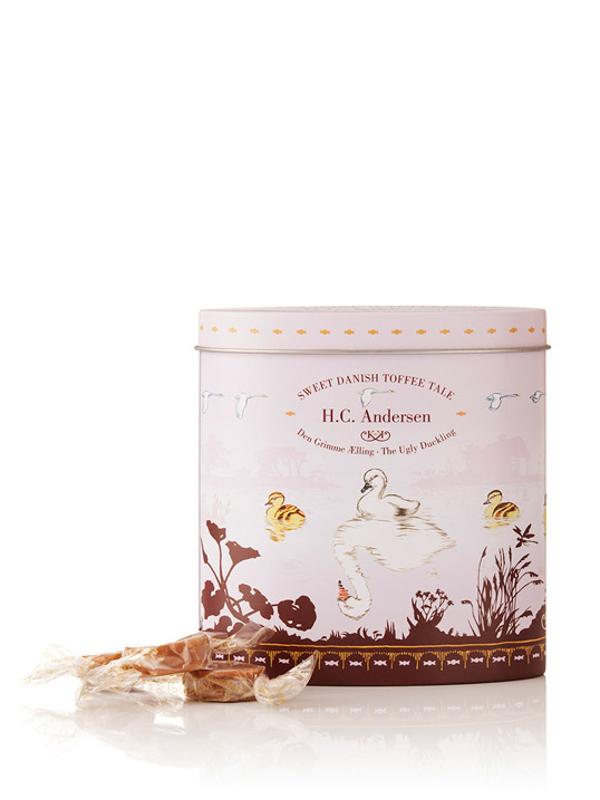 H.C. Andersen, Den Grimme Ælling - 140g karameller i smuk dåse