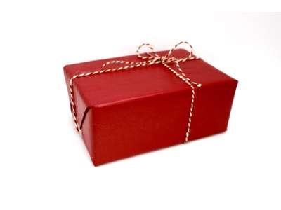 Gavepapir rød miljø 55 cm. Gavepapir