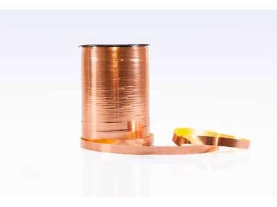 Gavebånd metallic 10mm Kobber