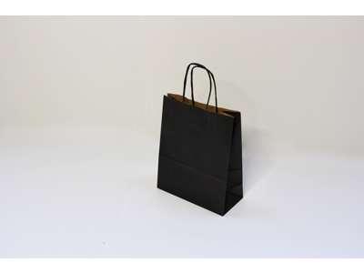 Bæreposer sort mini med  twistet hank