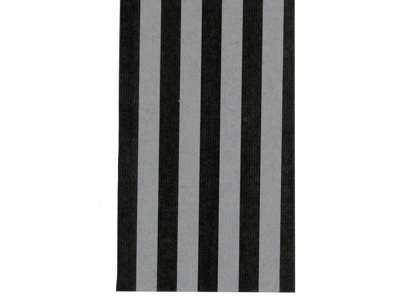 Håndrulle stribet sort/sølv 110cm