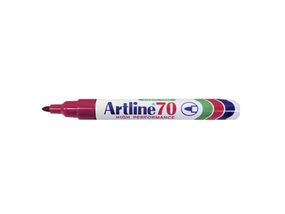 Artline 70 marker rød 1,5 mm.