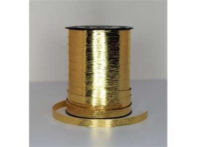 Metallic bånd præget 10mm guld