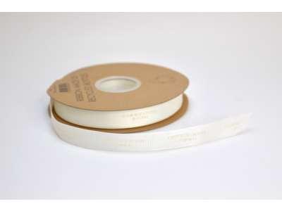 Genbrugsbånd rillet 16mm hvid