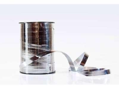 Gavebånd metallic 10mm sølv