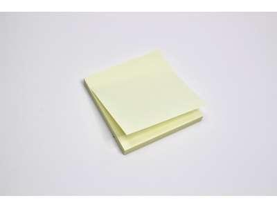 Memoblok gul  mellem 75x75mm.