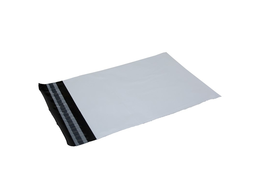 Hvid Forsendelsespose  19x25 cm 50 my