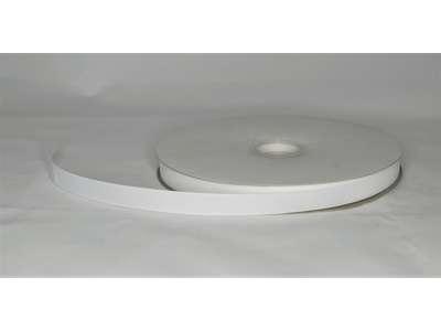 Silkebånd 16mm rillet hvid