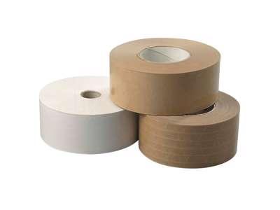 Klæberulle tape brun  Ubro gummiered