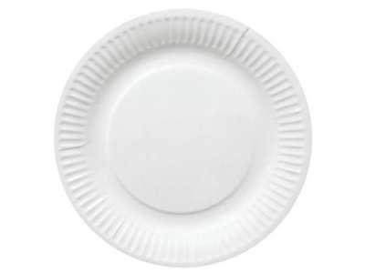 Paptallerken hvid 15 cm  100 stk./pk.
