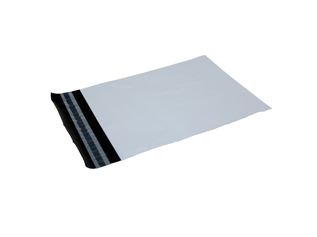 Hvid forsendelsespose 55x77 cm. 50my