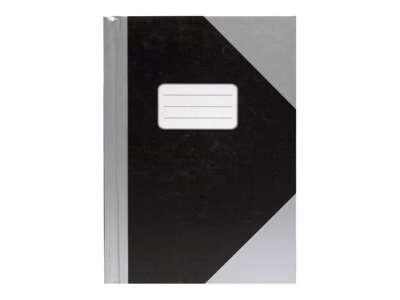 Kinabog A4 Linjeret sort/sølv