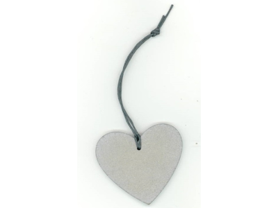 Hængemrk. hjerte sølv