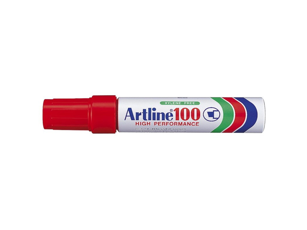 Artline 100 marker rød 7,5 - 12 mm.