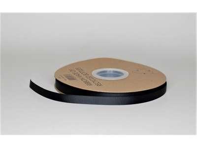 Genbrugsbånd 9mm rillet sort