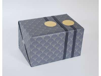Gavepapir vifte gråblå 55cmx150m