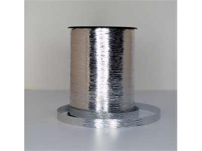 Metallic bånd præget 10mm sølv