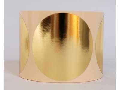 Etiketter Ø63mm Metallic guld