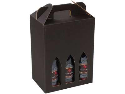Vinkarton til  6 flasker sort bølge