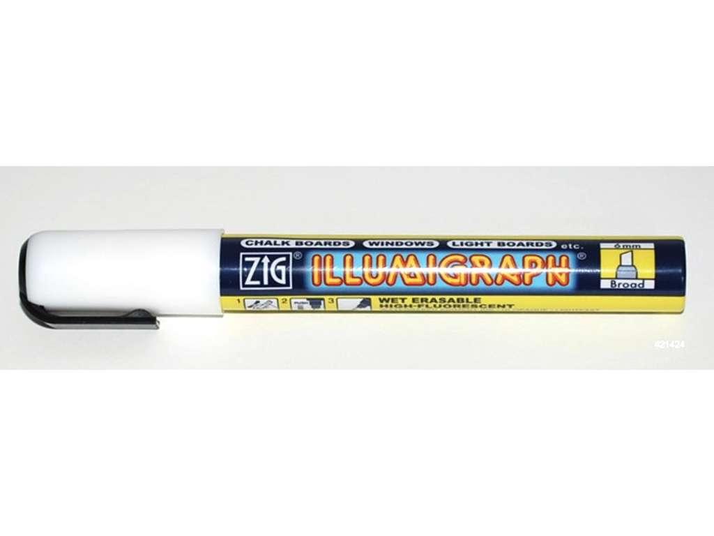Posterpen ZIG 6mm hvid