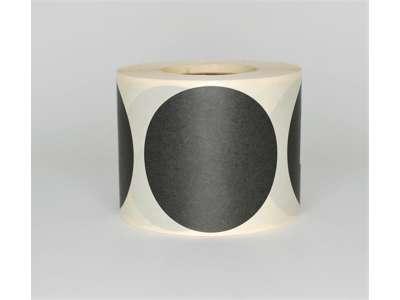 Etiketter Ø63mm sort (500)