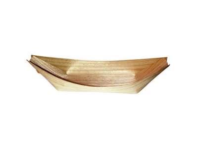 Træbåd i Fyrrespån 17 cm. 100 stk/pak