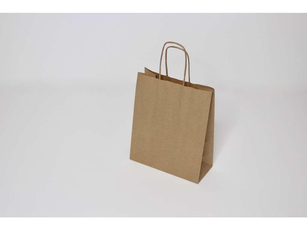 Bæreposer brun mini  m. twistet hank