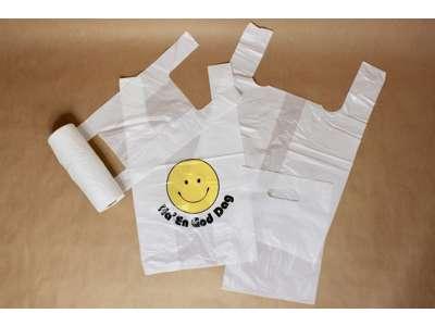 Plastik Bærepose Knitre - tynde - blok - knudepose