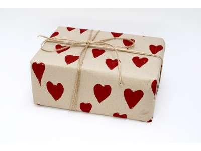 Gavepapir store hjerter 55cmx130m