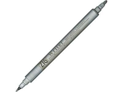 ZIG Metallic pen sølv med 2 spidser