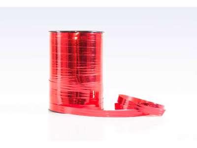 Gavebånd metallic 10mm rød