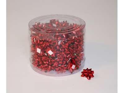 Små metallicsløjfer rød.