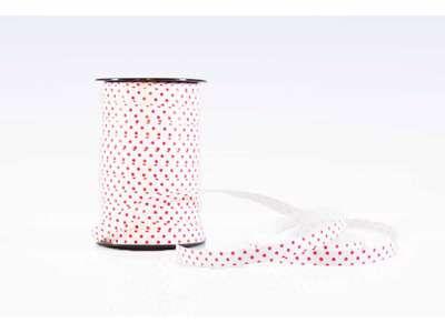 Gavebånd prikket hvid/rød