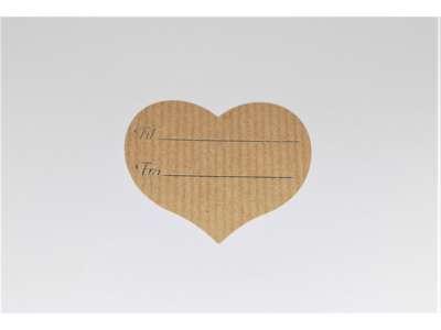 Til og fra hjerte etiketter