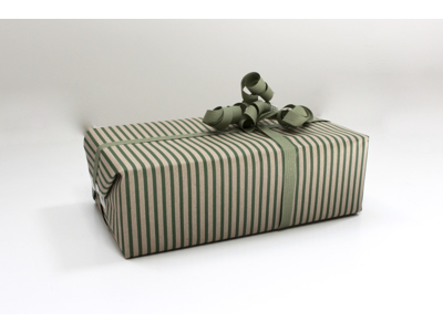 Gavepapir green stripes 40cm