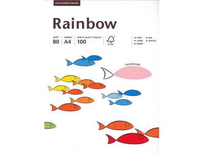 Rainbow A4 neon pink kopipapir