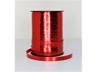Metallic bånd præget 10mm rød